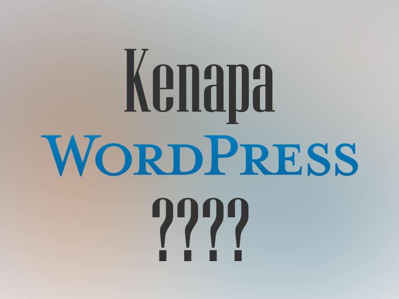 Alasan menggunakan WordPress Untuk Website Anda